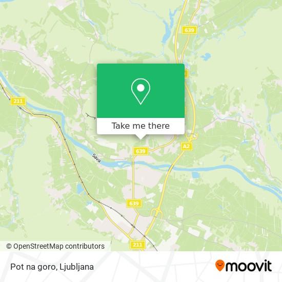 Pot na goro map
