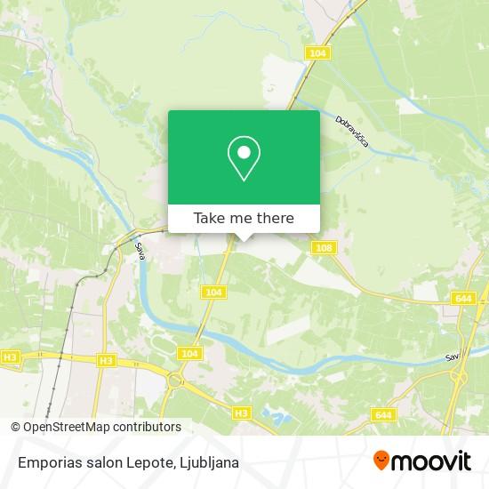 Emporias salon Lepote map