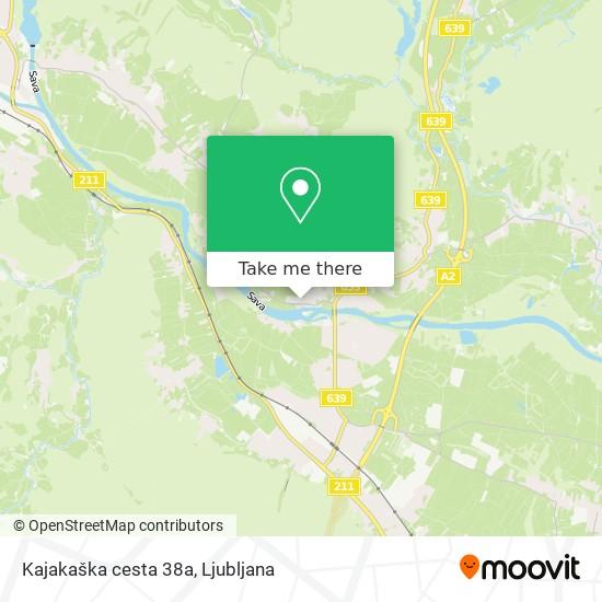 Kajakaška cesta 38a map