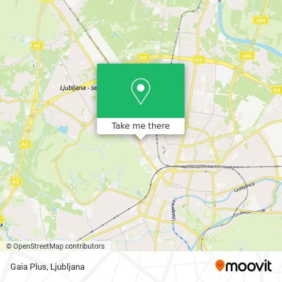 Gaia Plus map