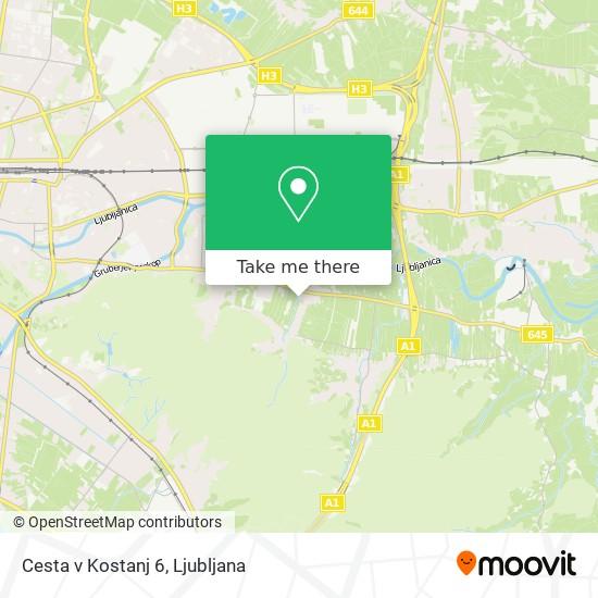 Cesta v Kostanj 6 map