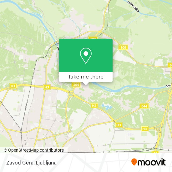 Zavod Gera map