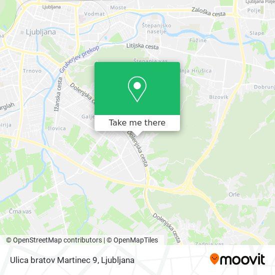 Ulica bratov Martinec 9 map