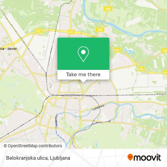 Belokranjska ulica map