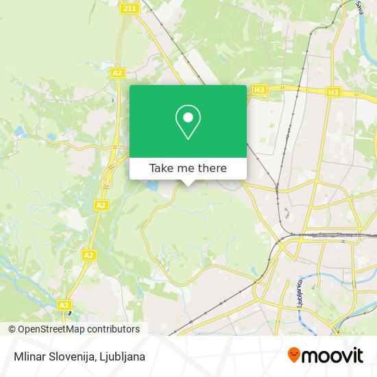 Mlinar Slovenija map