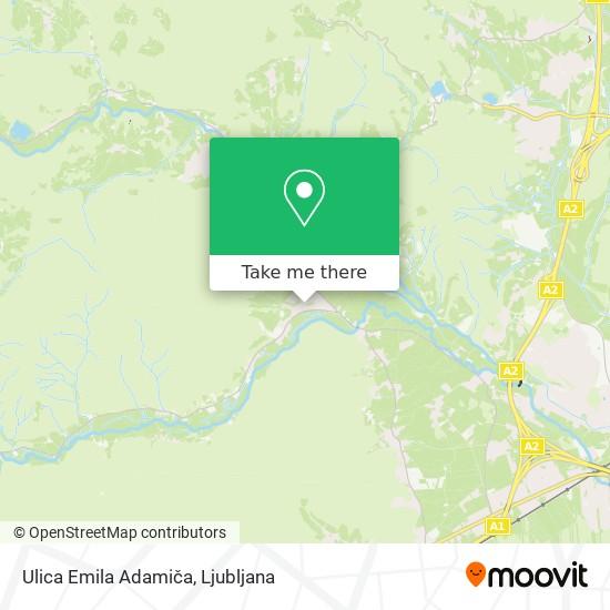 Ulica Emila Adamiča map
