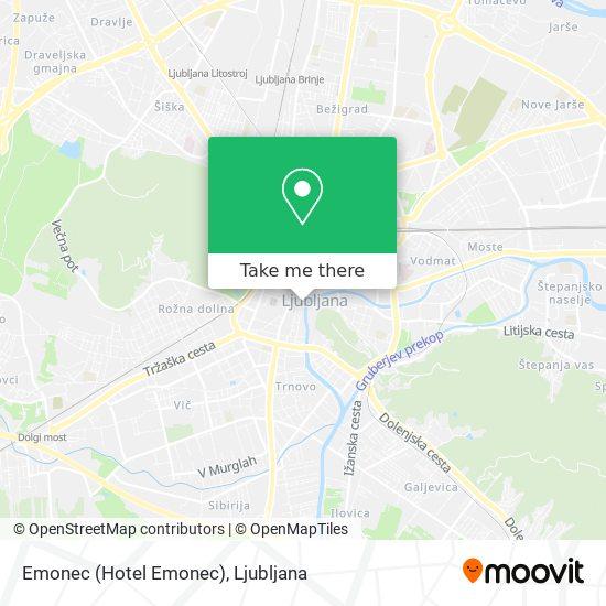 Emonec (Hotel Emonec) map