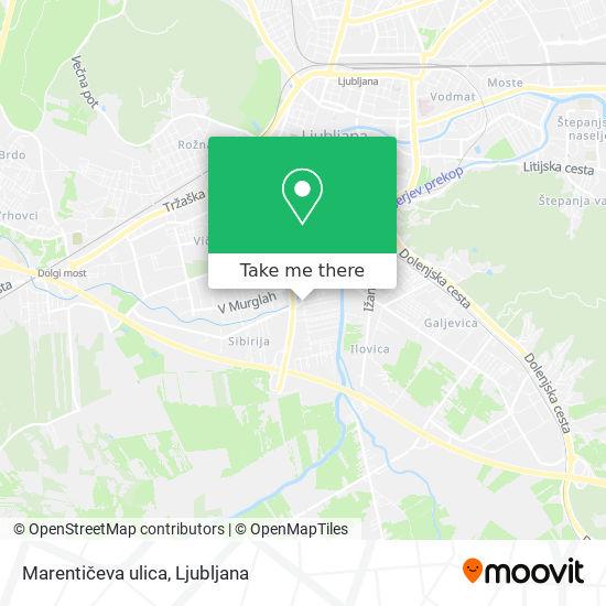 Marentičeva ulica map