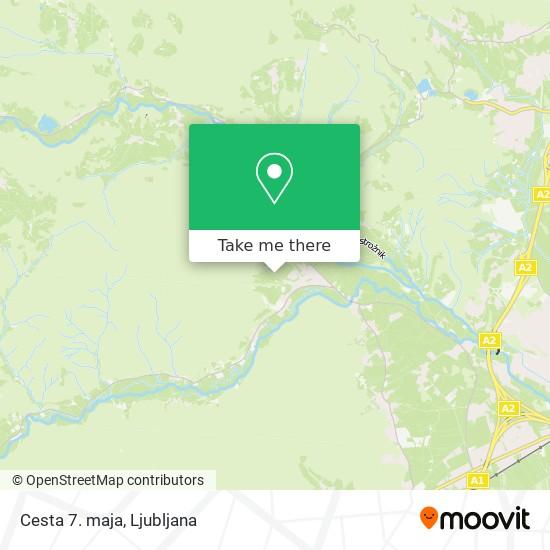 Cesta 7. maja map