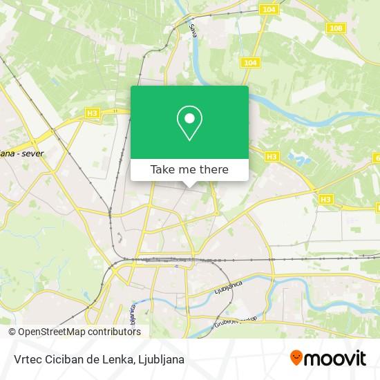 Vrtec Ciciban de Lenka map