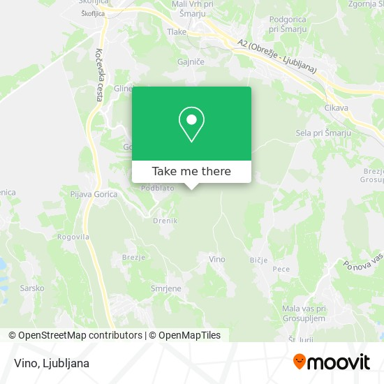 Vino map