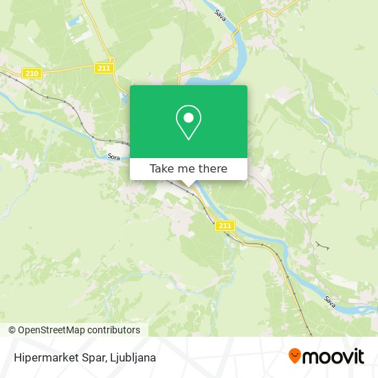 Hipermarket Spar map