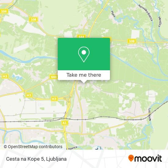 Cesta na Kope 5 map