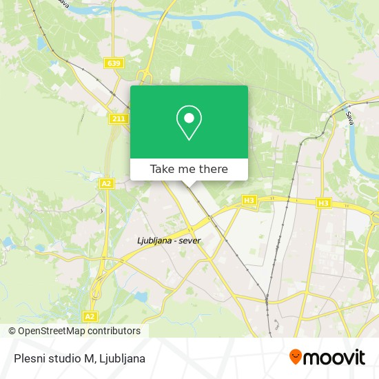 Plesni studio M map
