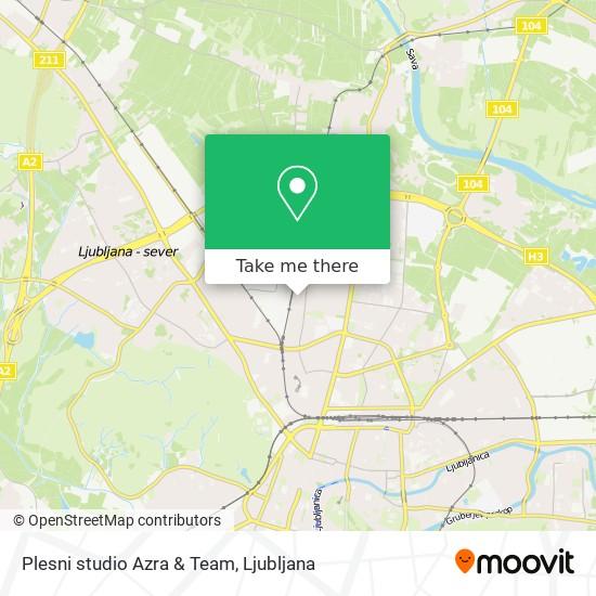Plesni studio Azra & Team map