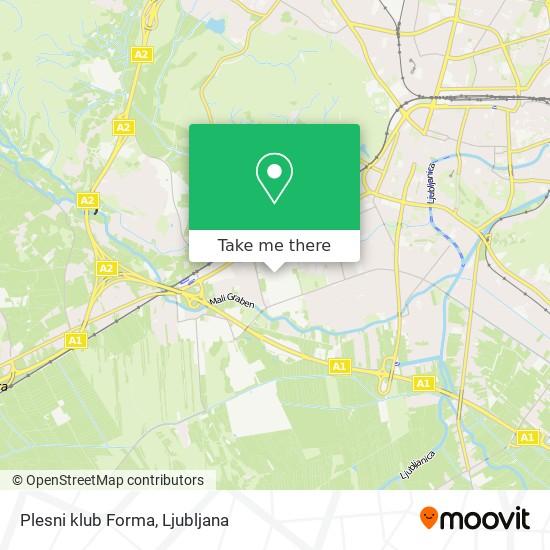 Plesni klub Forma map