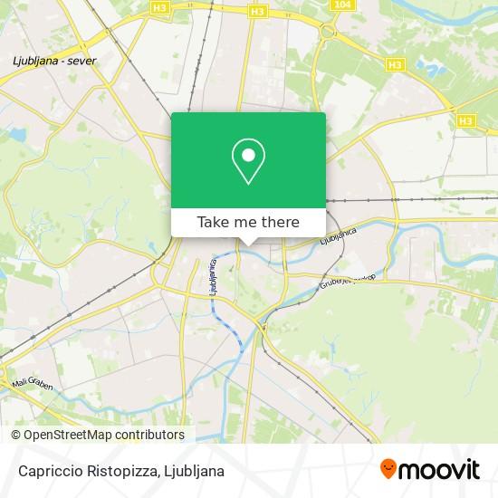 Capriccio Ristopizza map