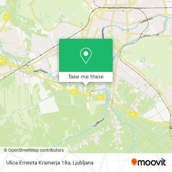 Ulica Ernesta Kramerja 18a map