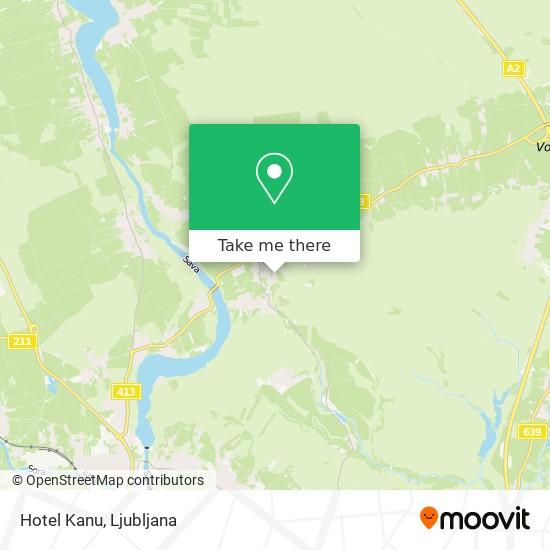 Hotel Kanu map