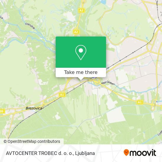 AVTOCENTER TROBEC d. o. o. map