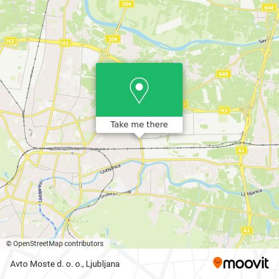 Avto Moste d. o. o. map