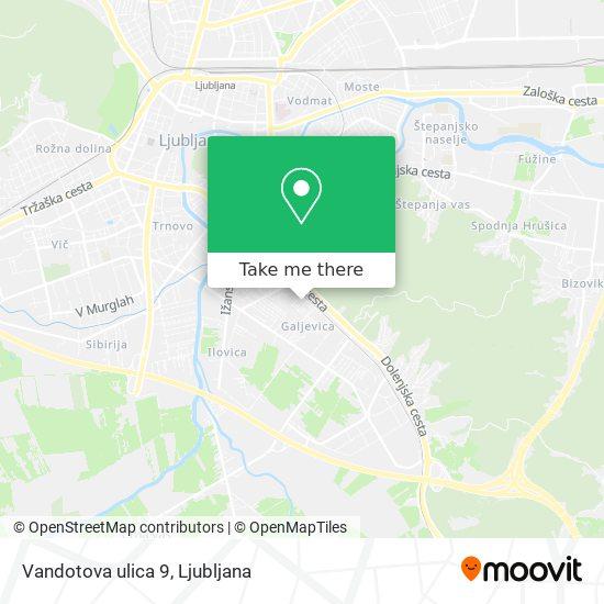 Vandotova ulica 9 map