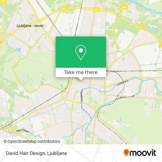 David Hair Design map