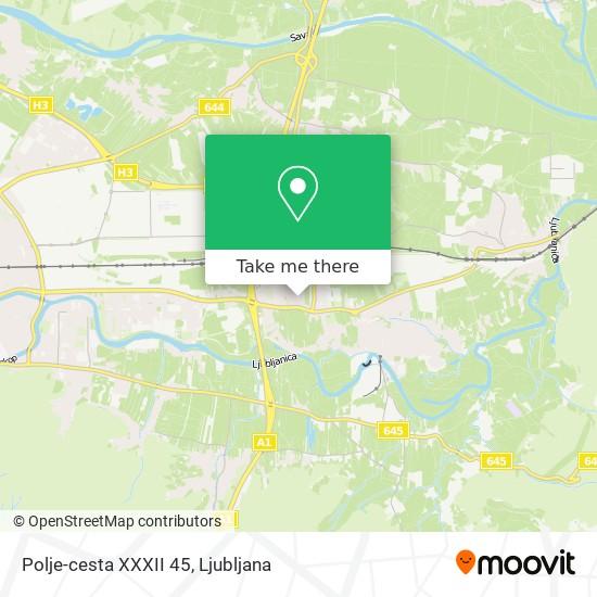 Polje-cesta XXXII 45 map