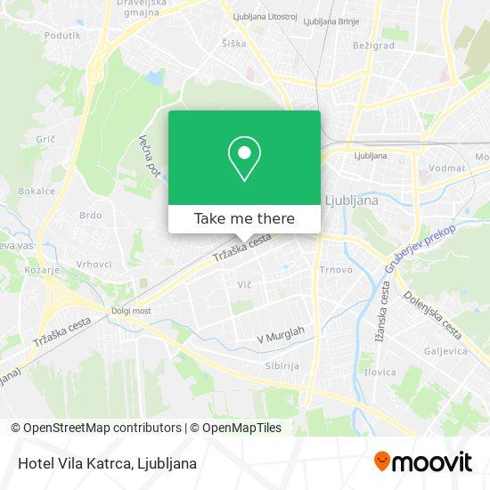 Hotel Vila Katrca map