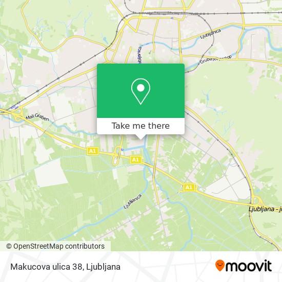 Makucova ulica 38 map