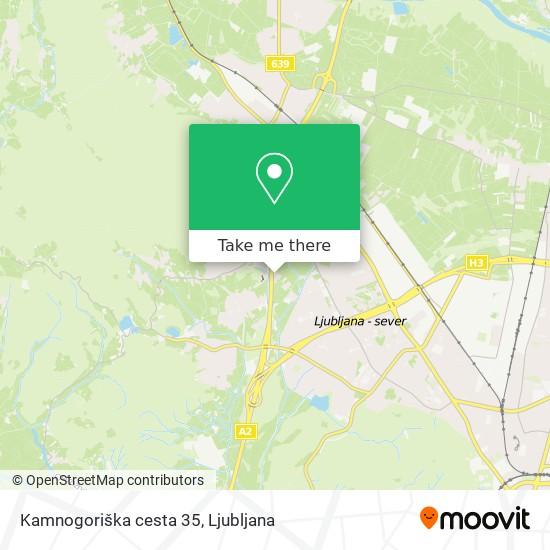 Kamnogoriška cesta 35 map