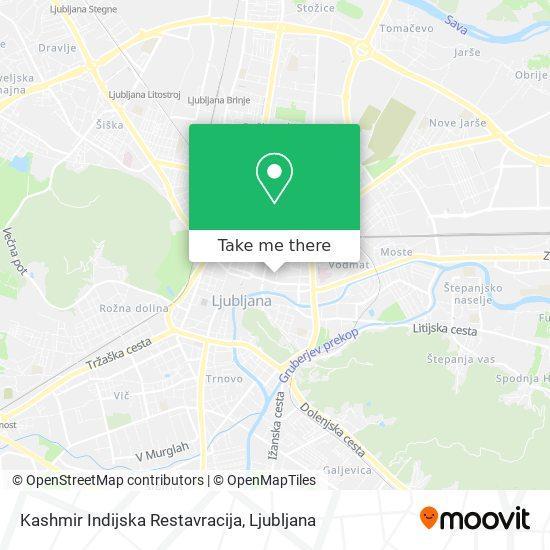 Kashmir Indijska Restavracija map