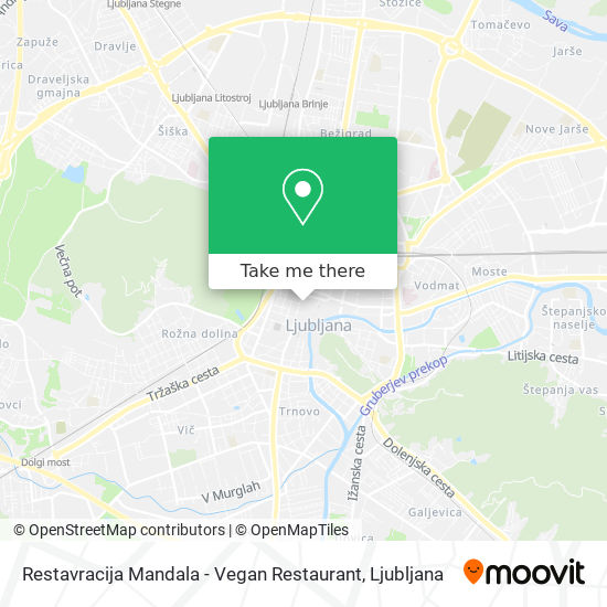 Restavracija Mandala - Vegan Restaurant map