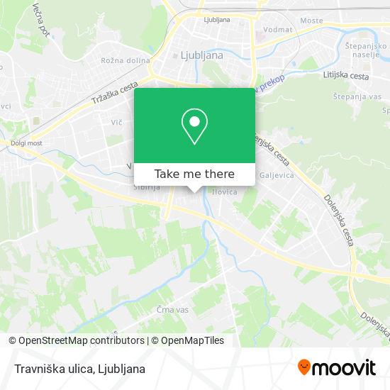 Travniška ulica map