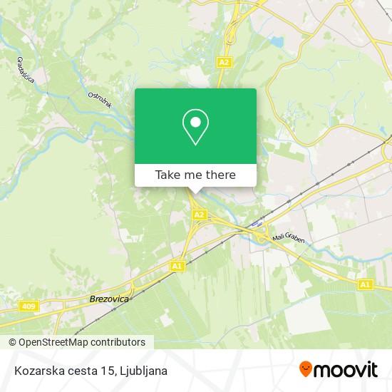 Kozarska cesta 15 map