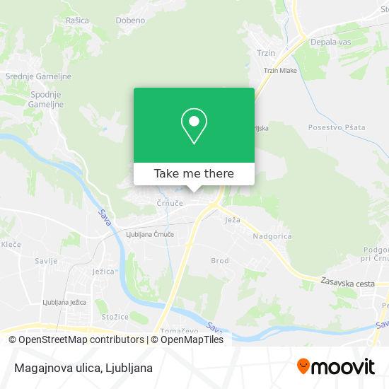 Magajnova ulica map