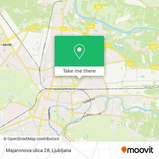 Majaronova ulica 28 map