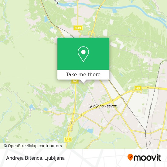 Andreja Bitenca map