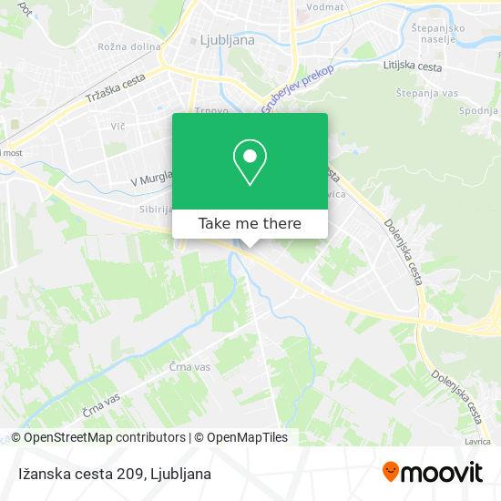Ižanska cesta 209 map
