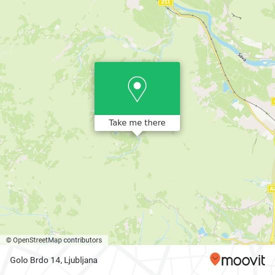 Golo Brdo 14 map