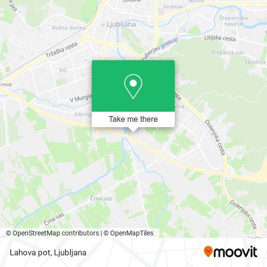 Lahova pot map