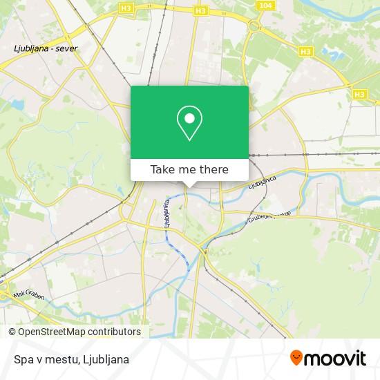 Spa v mestu map