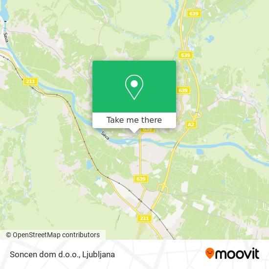 Soncen dom d.o.o. map