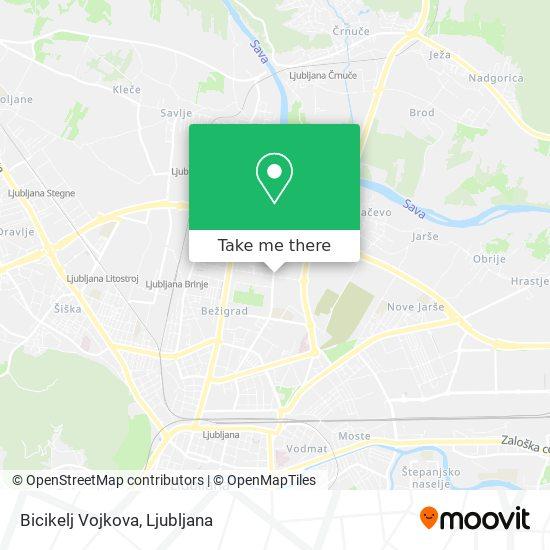 Bicikelj Vojkova map