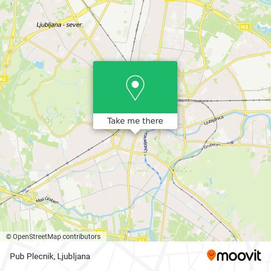 Pub Plecnik map