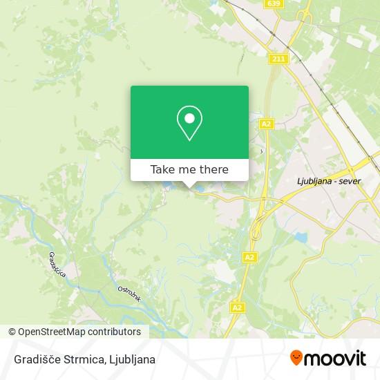 Gradišče Strmica map