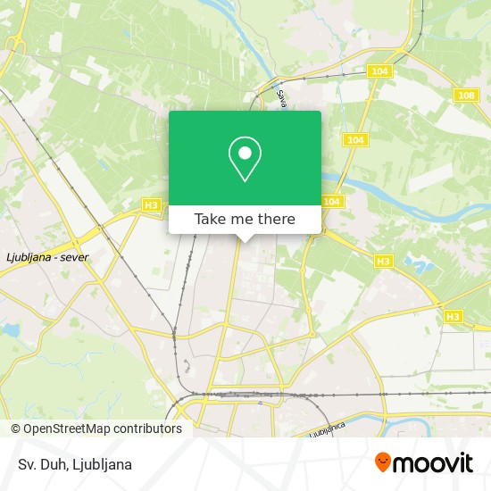 Sv. Duh map