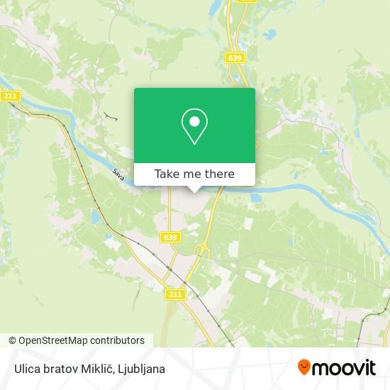 Ulica bratov Miklič map