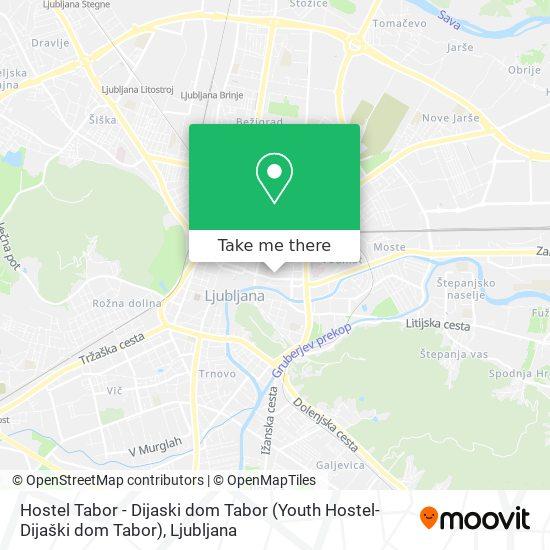 Hostel Tabor - Dijaski dom Tabor (Youth Hostel-Dijaški dom Tabor) map