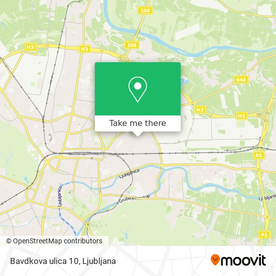 Bavdkova ulica 10 map